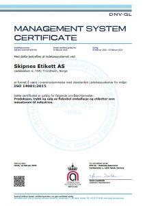 Skipnes ISO 14001